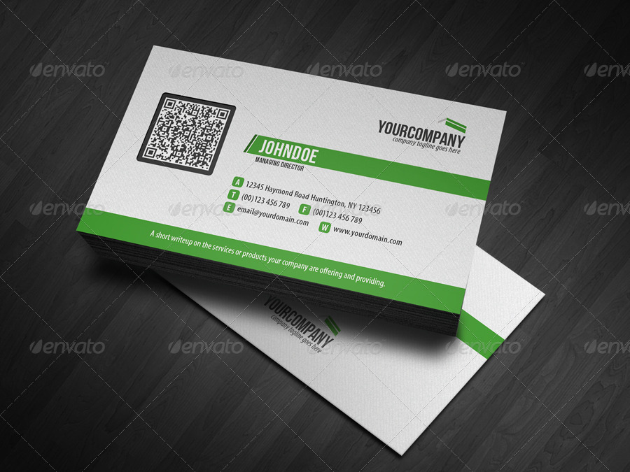 Corporate QR Code Business Card V3 by glenngoh | GraphicRiver