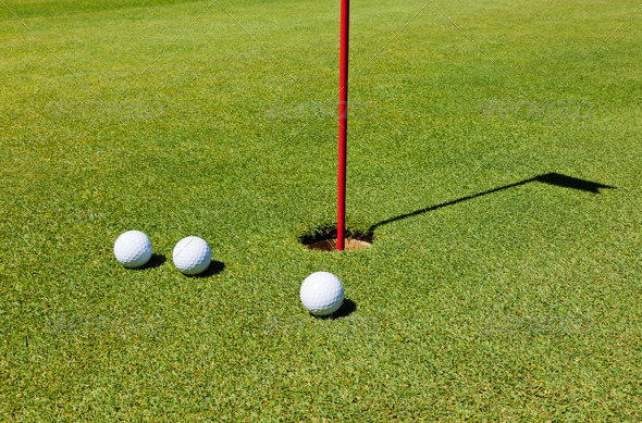 Golf: putting green - Stock Photo - Images