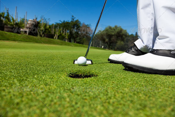 Putting green - Stock Photo - Images