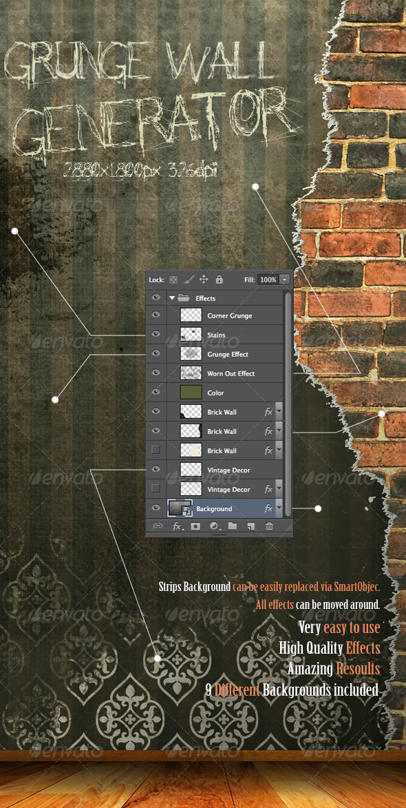 Grunge Wall Generator - Miscellaneous Backgrounds