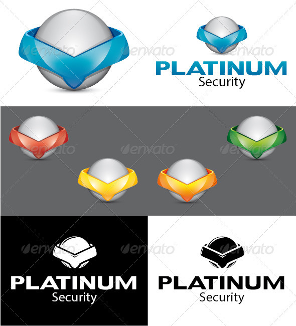 Platinum Security Logo - 3d Abstract