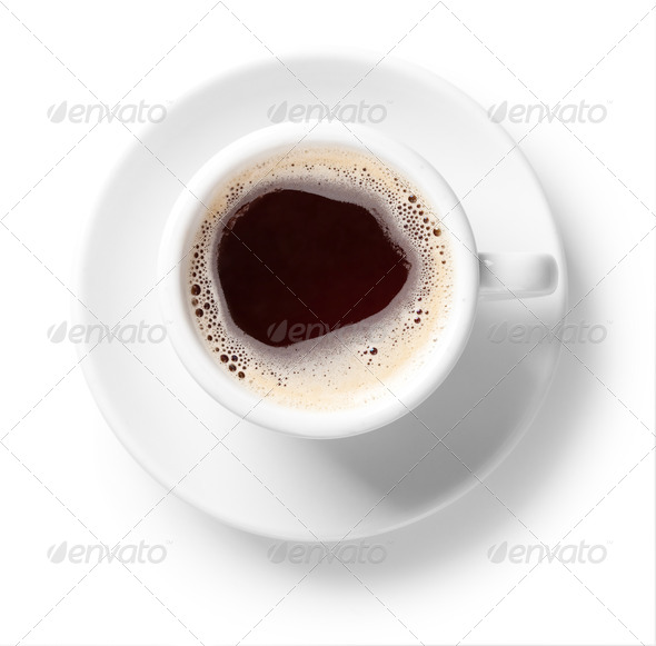Black coffee cup - Stock Photo - Images