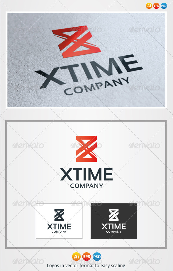 X Time Logo - Letters Logo Templates