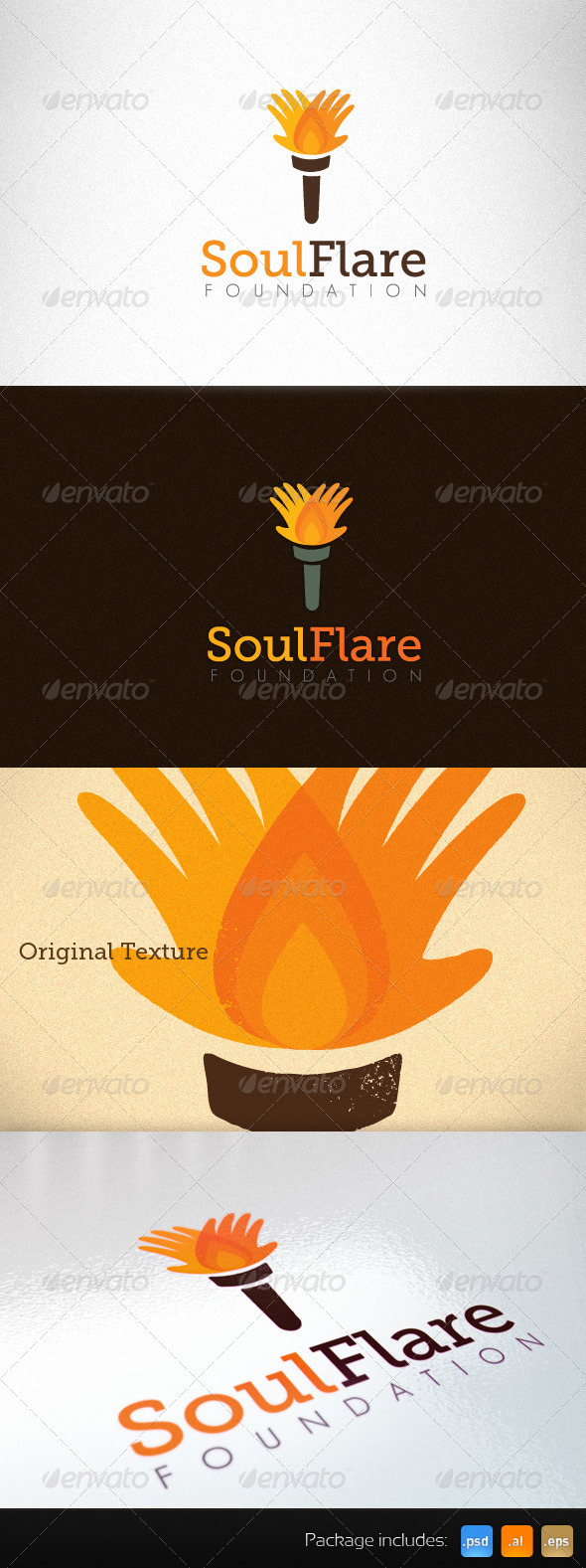 Non-Profit Charity Social Foundation Creative Logo - Objects Logo Templates