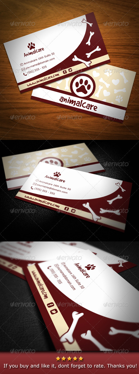 Animal Care Business Card - Industry Specific Business Cards