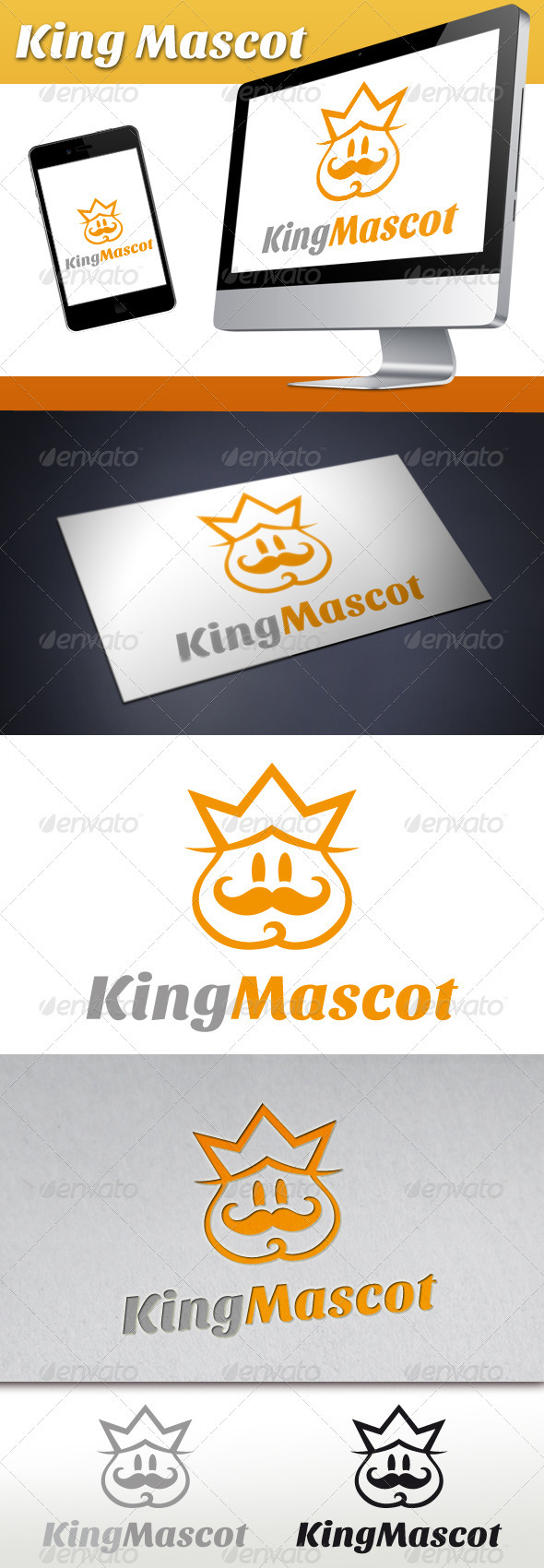 King Mascot Logo - Humans Logo Templates