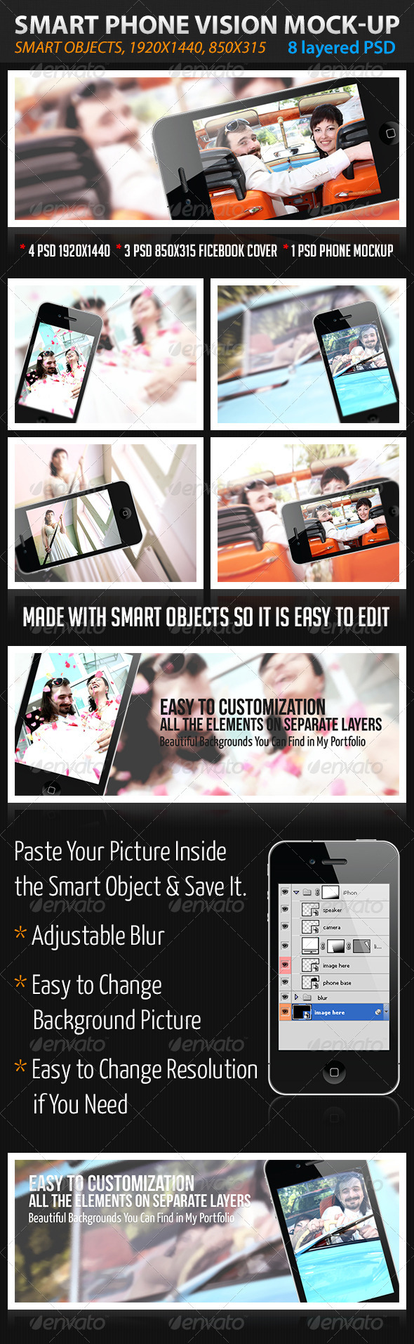 Smart Phone Vision - Tech / Futuristic Photo Templates
