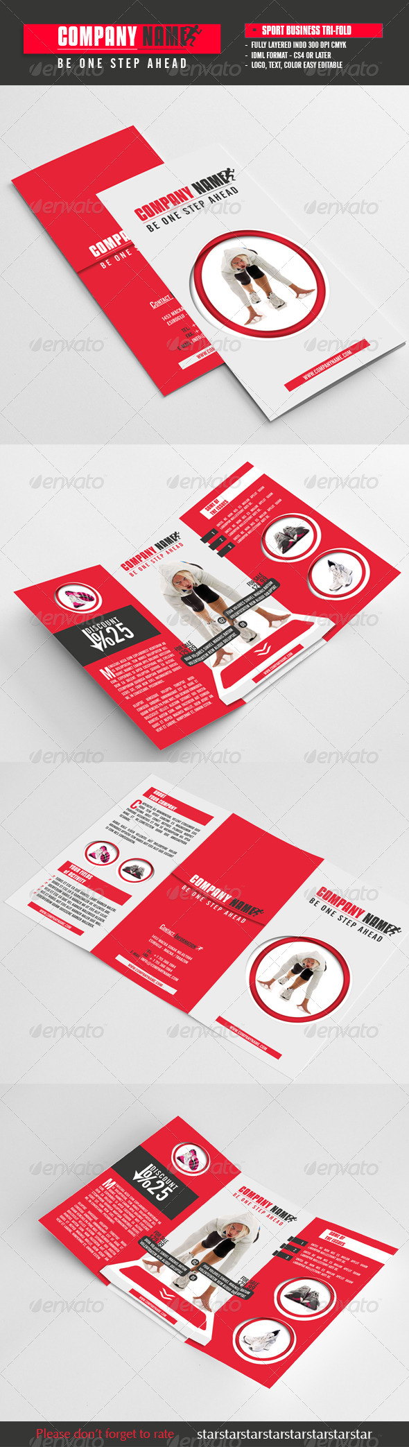 Sport Business Tri-Fold - Brochures Print Templates