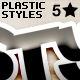 Plastic Text Styles - GraphicRiver Item for Sale