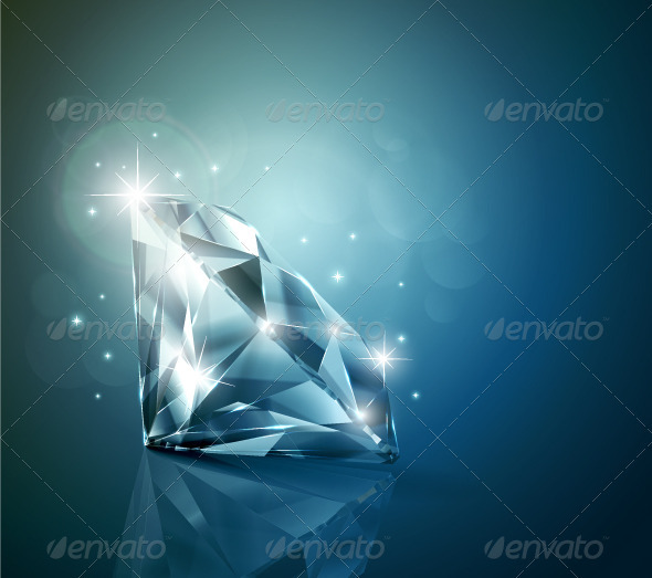 Shiny diamond background - Man-made Objects Objects