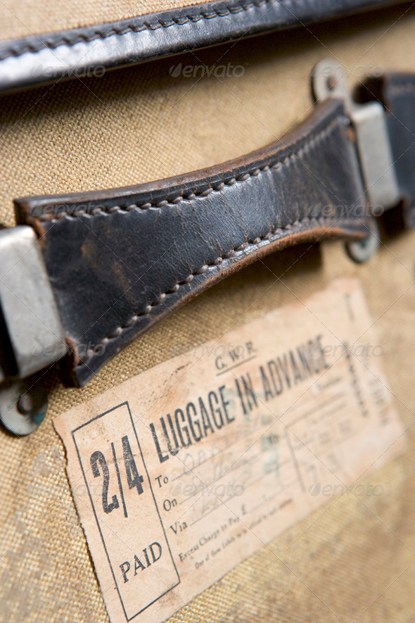 Close Up Of  Old-Fashioned Suitcase - Stock Photo - Images