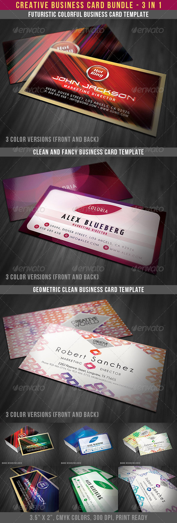 Creative Style Business Cards Bundle - Creative Business Cards