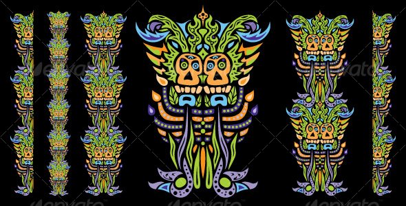 Psychedelic ornament element - Decorative Vectors