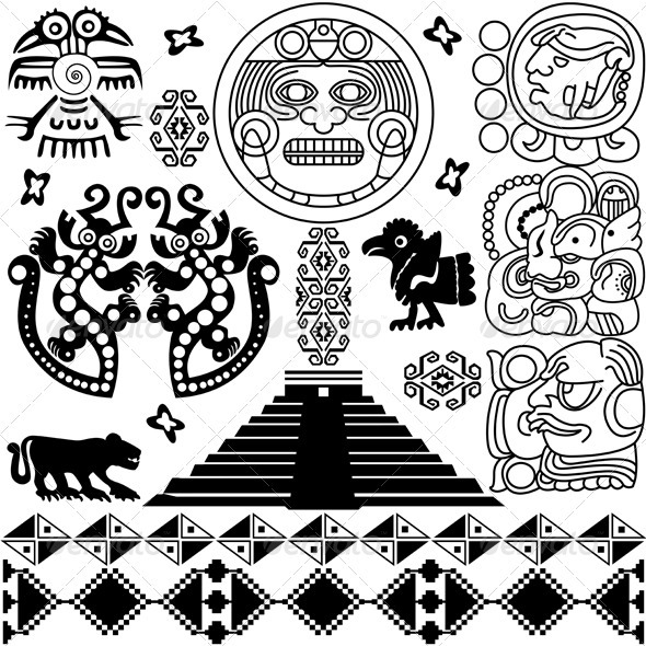 Ancient american design - Decorative Symbols Decorative