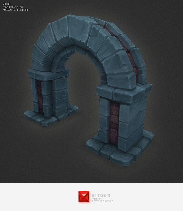 Low Poly Dungeon Arch - 3DOcean Item for Sale