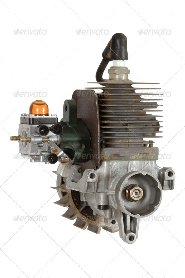 Gasoline-fueled internal combustion engine - Stock Photo - Images