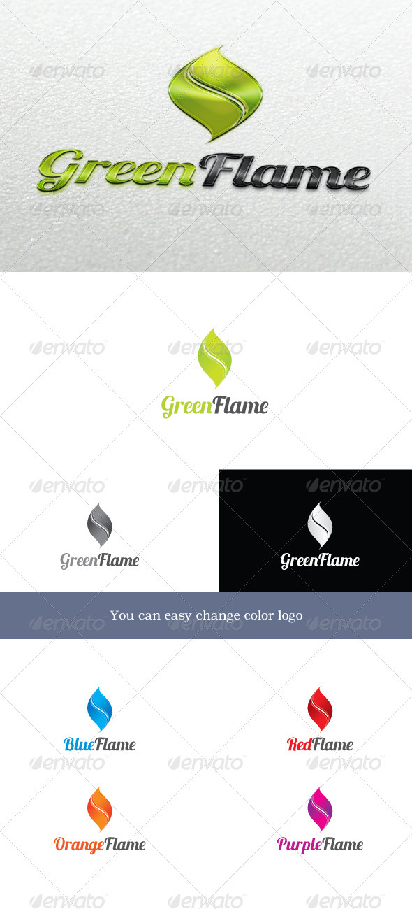 GreenFlame Logo - Symbols Logo Templates