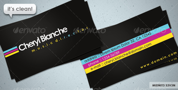 Clean CMYK Business Card - Creative Business Cards
