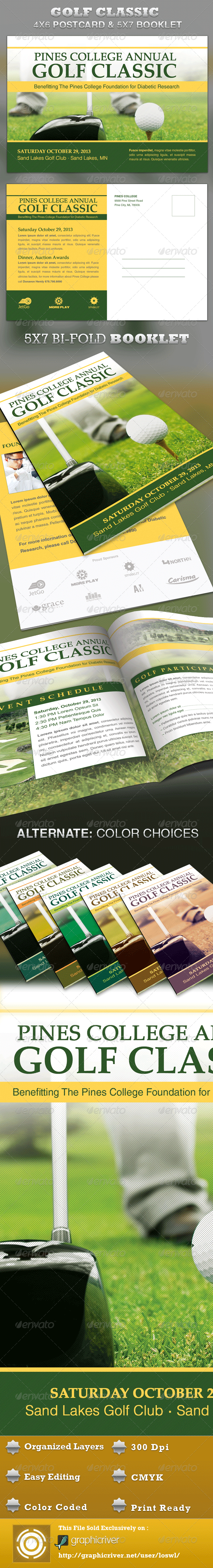 Golf Classic Mailer and Booklet Template - Sports Events