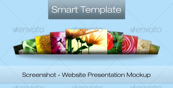 Screenshot - Web Presentation Mockup - Website Displays