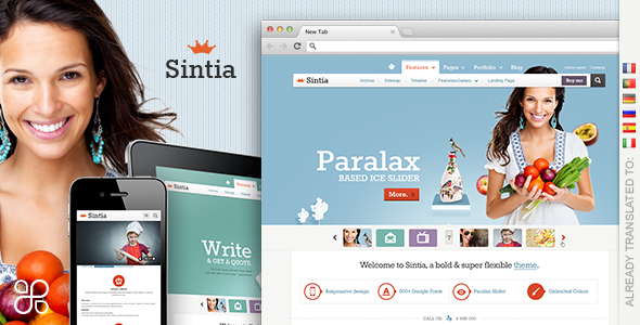 Sintia Responsive for Business Portfolio