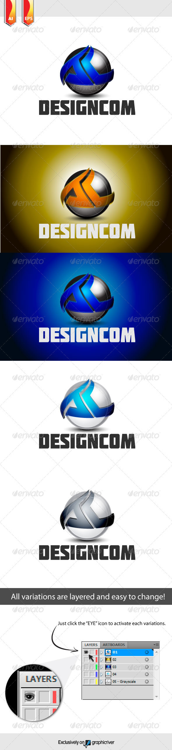 DesignCom Logo - Abstract Logo Templates