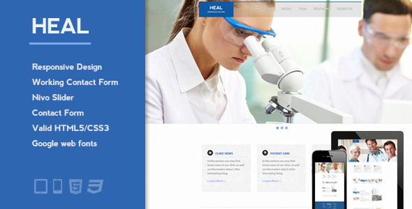 Heal – Responsive Medical and Health HTML Template