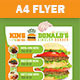 King Donald's Burger Flyer - GraphicRiver Item for Sale