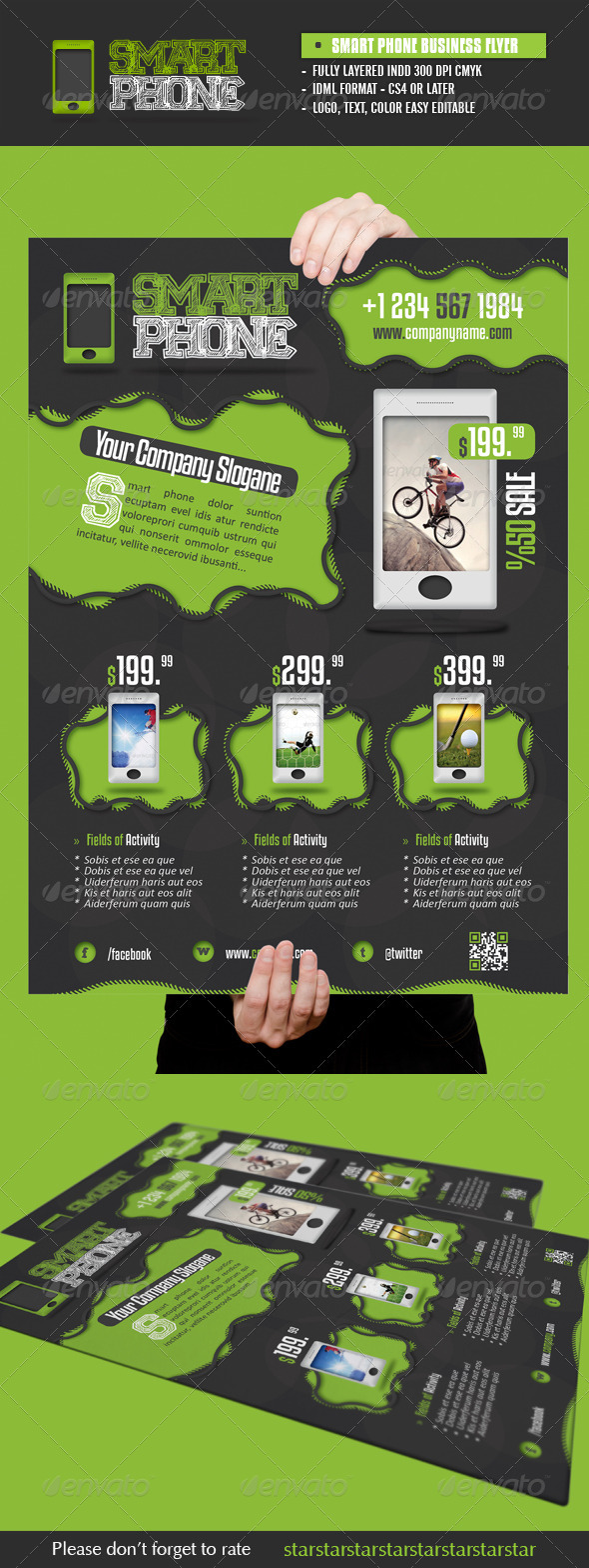 Smart Phone Flyer - Commerce Flyers