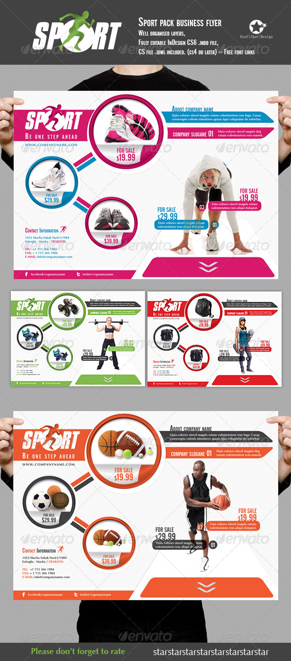 Sport Pack Business Folder - Commerce Flyers