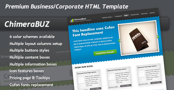 Free Download ChimeraBuzz - Premium Business Corporate Template Nulled Latest Version