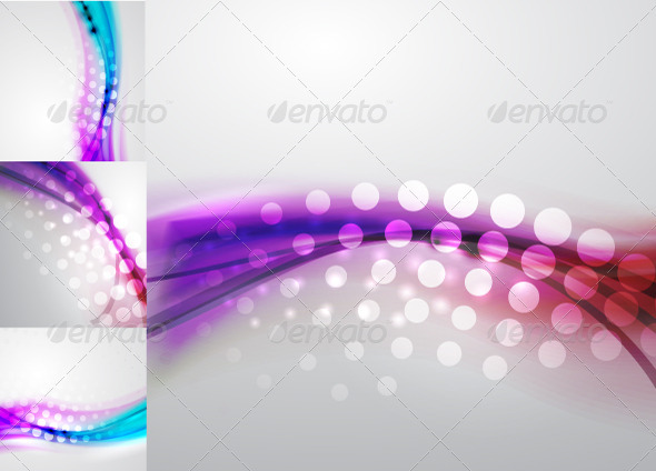 Blue Dotted Background - Backgrounds Decorative