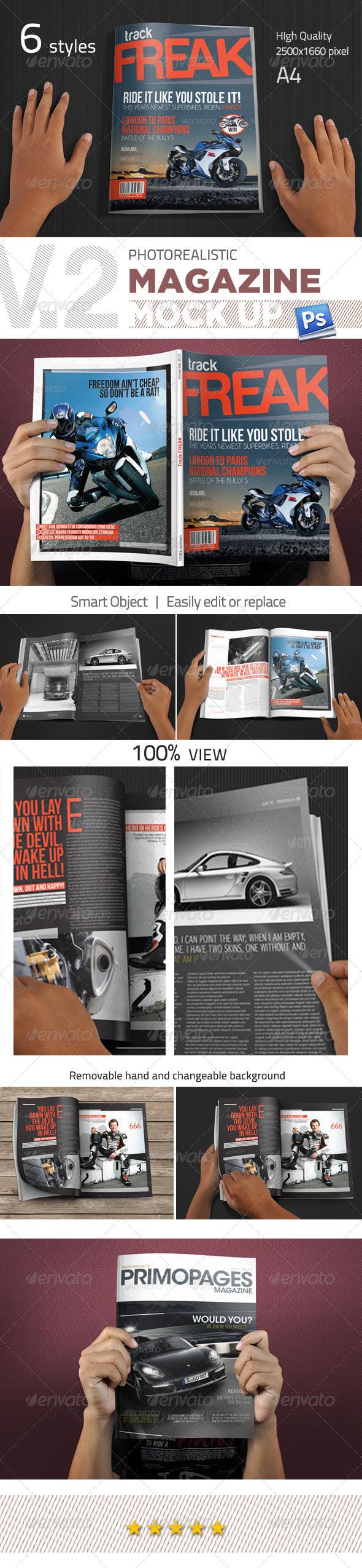 Photorealistic Magazine Mockup V.2 - Magazines Print