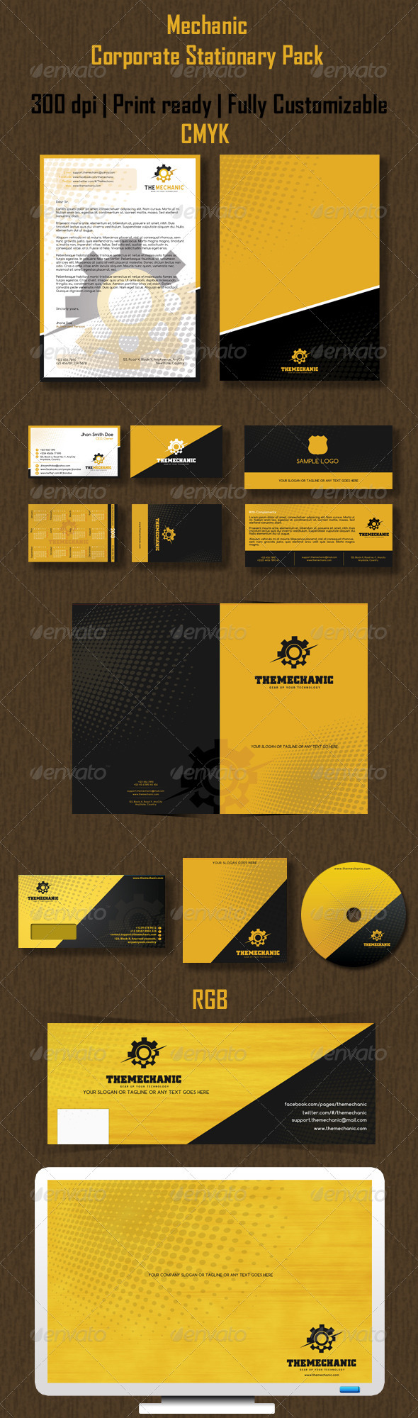 Mechanic Corporate Stationary Pack - Stationery Print Templates