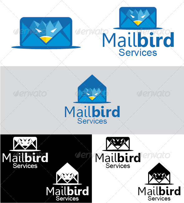 Mailbird Services Logo - Animals Logo Templates