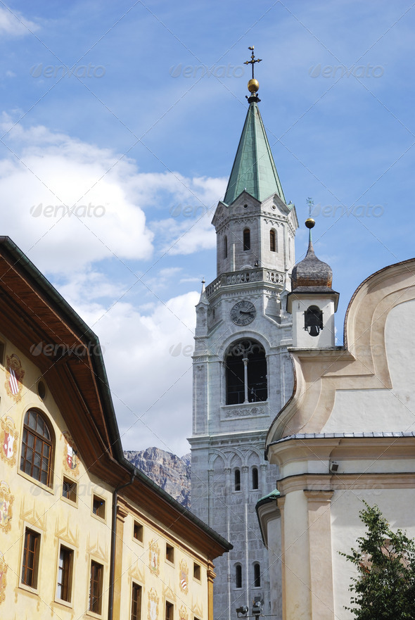 Church Of Cortina - Stock Photo - Images