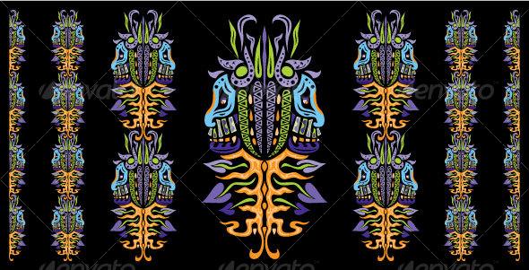 Psychedelic ornament element - Decorative Vectors