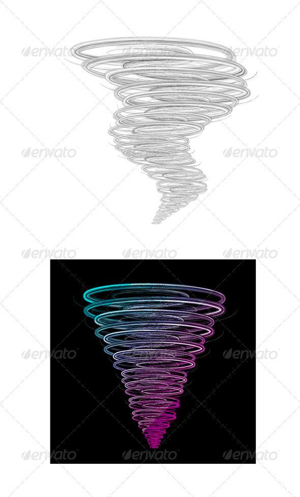 Tornado Vector Illustration - Abstract Conceptual