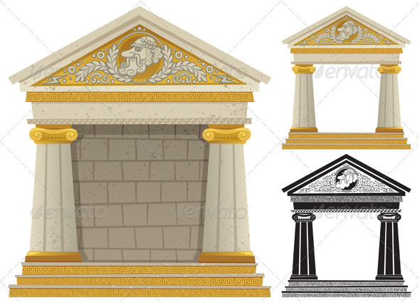Greek Temple - Buildings Objects