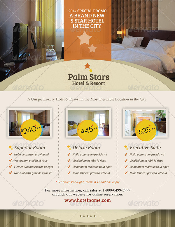 Hotel Promotion Flyer Vol By Kinzi  Graphicriver