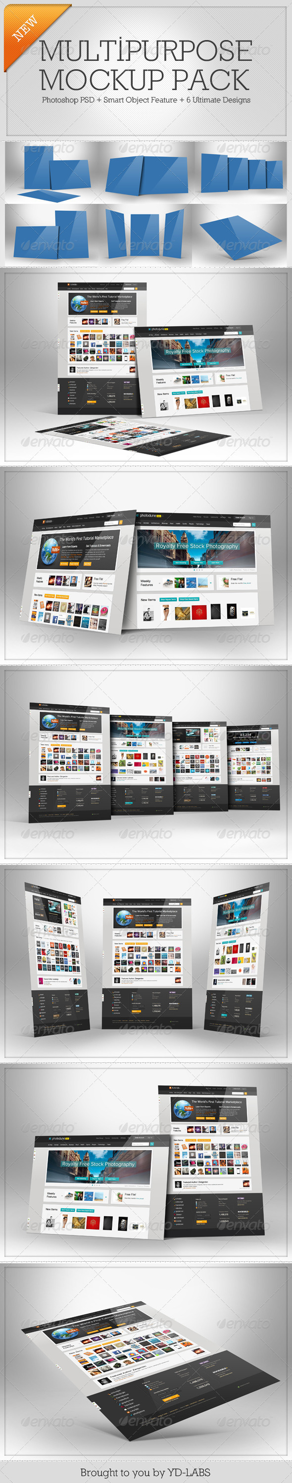 Multipurpose Mockup Pack 1 - Miscellaneous Displays