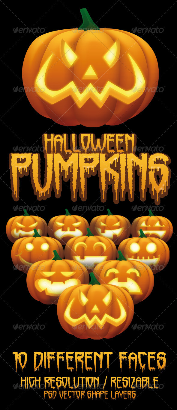 Halloween Pumpkins - Miscellaneous Illustrations