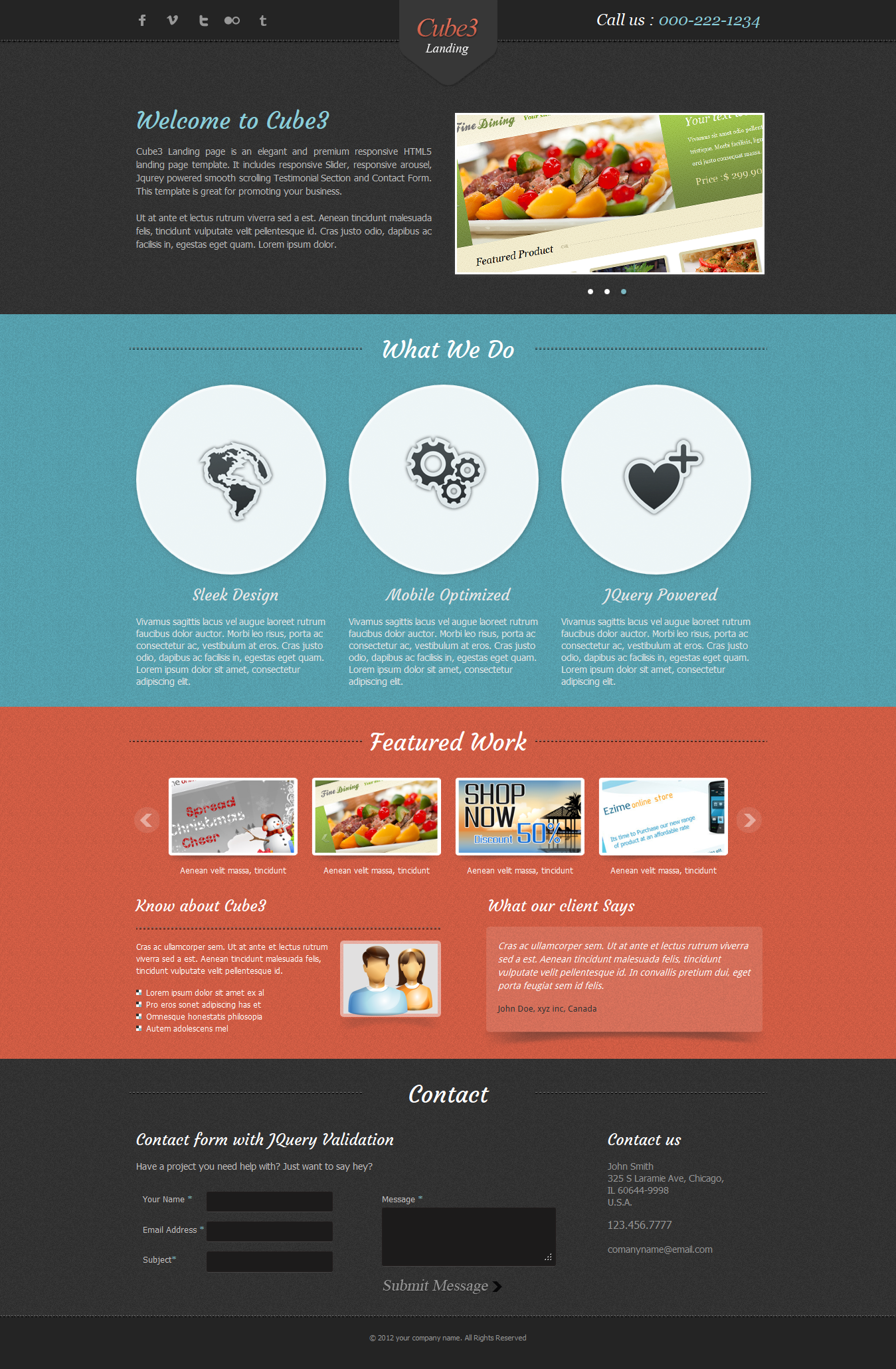 Cube3 Landing Page by bluenila | ThemeForest