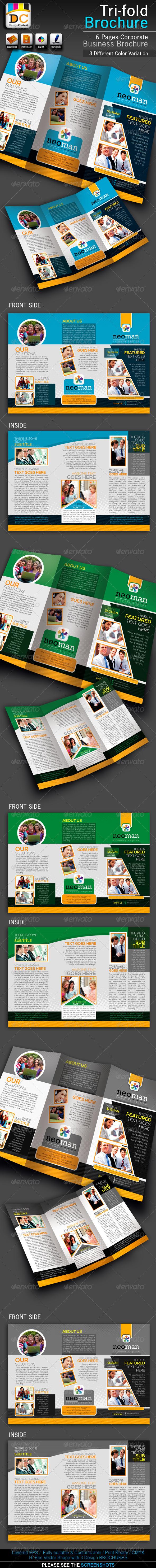 NeoMan Tri-fold Corporate Business Brochure - Corporate Brochures
