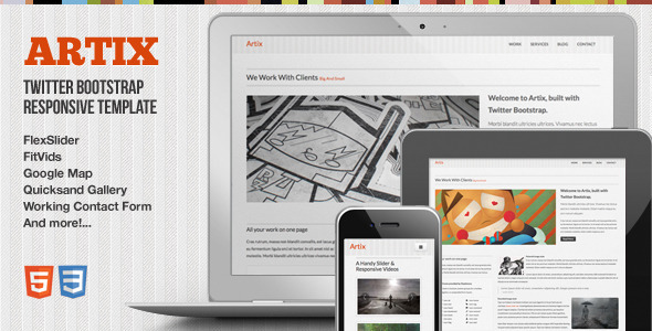 Artix – One Page Responsive Bootstrap Template