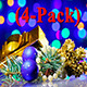 New Year / Christmas Decorations Rotating (4-Pack) - VideoHive Item for Sale