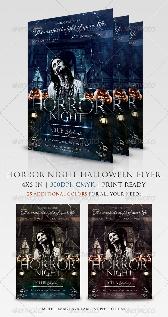 Horror Night Flyer - Holidays Events