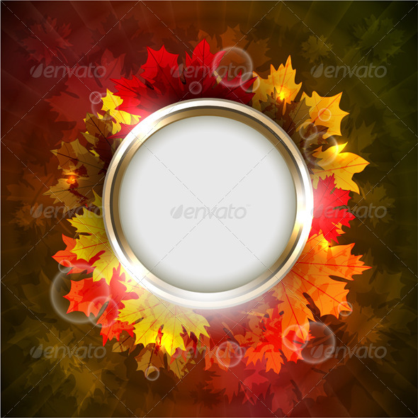 Autumn background with copyspace  - Seasons Nature