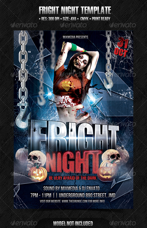 Fright Night Template - Events Flyers