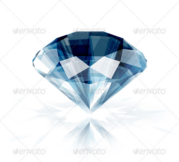Diamond isolated on white - Man-made Objects Objects